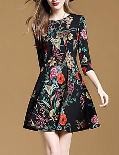 cheap Women's Dresses-Women's Street chic A Line Dress Print