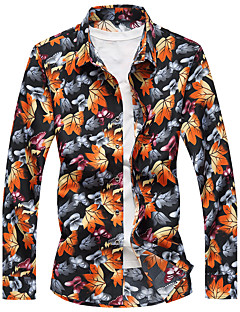 cheap Men's Shirts-Men's Plus Size Shirt - Floral