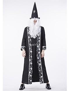 billige Halloweenkostymer-Trollmann Cosplay Kostumer Halloween Festival / høytid Halloween-kostymer Svart Mote