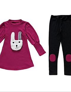 Mädchen Sets Druck Baumwolle Polyester Herbst Lange Ärmel Kleidungs Set