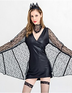 Batter Dronning Engel & Demon Cosplay Kostumer Halloween Festival/høytid Halloween-kostymer Svart Mote