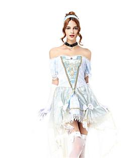 Prinsesse Dronning Eventyr Cosplay Kostumer Voksne Halloween Festival/høytid Halloween-kostymer Mote Vintage