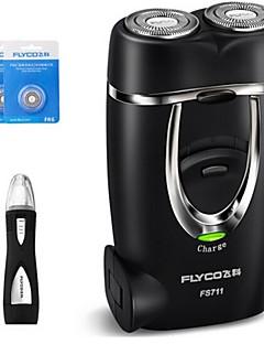 billige Barbermaskiner & Barberhøvler-flyco fs711 elektrisk barbermaskin razor 220v vaskehodet nesenhet reservehodet