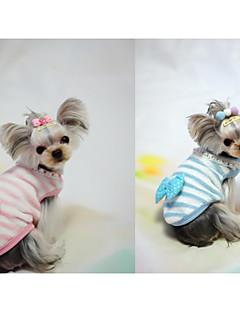 baratos -Cachorro Colete Roupas para Cães Casual Laço Azul Rosa claro Ocasiões Especiais Para animais de estimação