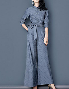 Women's Daily Simple Fall Blouse Pant Suits