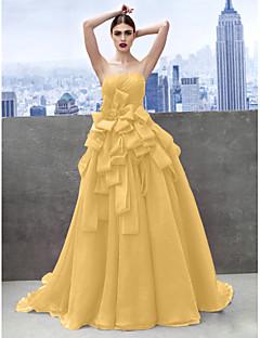 billige Høst 2013-Prinsesse Kjære Kapellslep Organza Skoleball / Formell kveld Kjole med Niveauer av TS Couture®