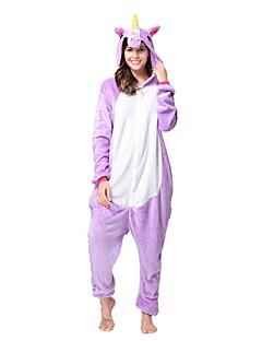 billige Kigurumi-Kigurumi-pysjamas Enhjørning Onesie-pysjamas Kostume Flanell Fleece Lilla Cosplay Til Voksne Pysjamas med dyremotiv Tegnefilm Halloween