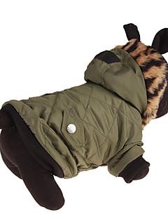 billiga Hundkläder-Hund Huvtröjor Hundkläder Enfärgad Grön Ner / Cotton Kostym För husdjur Ledigt / vardag