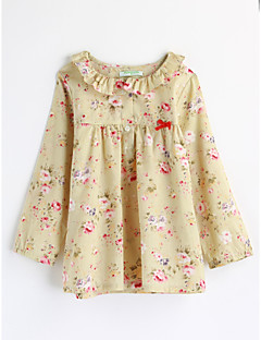 Girls' Floral Blouse,Cotton Fall Long Sleeve