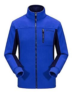 baratos Jaquetas Softshell, de Lã ou de Trilha-Homens Jaqueta Fleece de Trilha Ao ar livre Inverno Anti-Escorregar Design Anatômico Resistente aos raios UV Respirabilidade Leve Inverno
