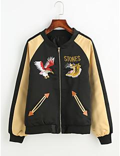 baratos Ponta de Estoque-Mulheres Jaqueta Simples Estampado