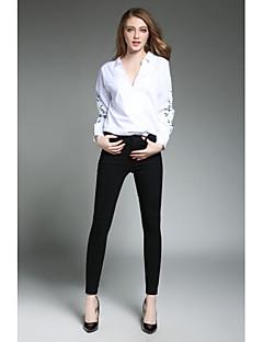 Majica Ženske,Jednostavno Ležerno/za svaki dan Rad Print-Dugih rukava Kragna košulje-Proljeće Tanko Poliester