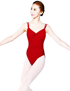 Ballet Dames Optreden Nylon 1 Stuk Mouwloos Natuurlijk Gympak