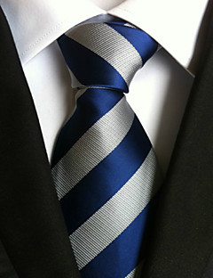 Men's Polyster Neck Tie,Striped Striped All Seasons Blue