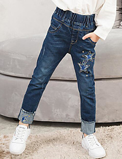 Gutt Jeans Ensfarget Høst Vinter