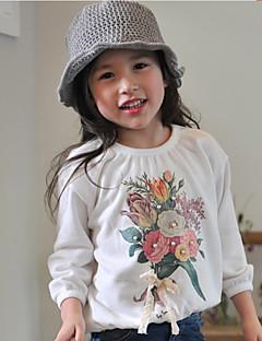 Girls' Print Blouse,Cotton Spring Fall Long Sleeve Short