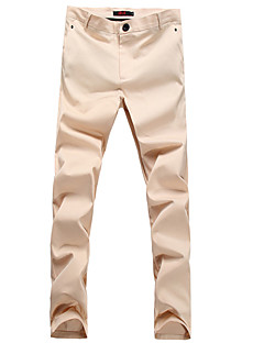 Men's Mid Rise Micro-elastic Chinos Pants,Outdoor Loose Solid