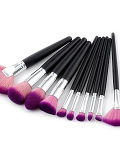 baratos -10pçs Pincéis de maquiagem Profissional Conjuntos de pincel / Pincel para Blush / Pincel para Sombra Pêlo Sintético Cobertura Total /