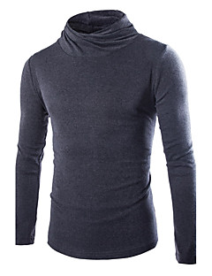 tanie Męskie swetry i swetry rozpinane-Męskie Golf Pulower Jendolity kolor