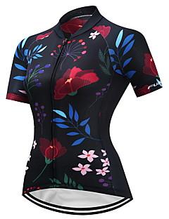 サイクリングジャージー 女性用 半袖 バイク ジャージー アンチスリップ 速乾性 通気性 高弾性 クールマックス ライクラ® ファッション 夏 ブラック