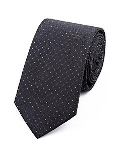 Men's Polyester Neck Tie,Grid Jacquard All Seasons Black