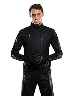billige Sykkelklær-SPAKCT Herre Sykkeljakke Sykkel Sommer Fleecejakker / Fleecer Vindtett Ensfarget Spandex, Coolmax®, Elastan Svart / Mørkegrå Sykkelklær