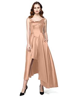 billiga Kändisklänningar-A-linje Prydd med juveler Asymmetrisk Satäng Formell kväll / Smokinggala Klänning med Paljett Ficka av TS Couture®