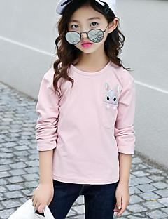 Mädchen T-Shirt einfarbig Baumwolle Frühling Herbst Lange Ärmel