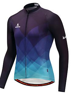 cheap Cycling Jerseys-Miloto Cycling Jersey Men's Long Sleeves Bike Jersey Top Winter Bike Wear Stretchy Cycling Blue/Black