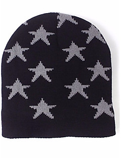 billige Trendy hatter-Dame Hatt Skilue,Alle årstider Genser Jacquard Trykt mønster Hvit Svart Navyblå Vin Kakifarget