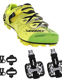 billiga Cykling-SIDEBIKE Cykelskor med pedaler och klossar / MTB-skor Bärbar Cykelsport Röd och vit / Svart / Blå / Svart / Guld Herr