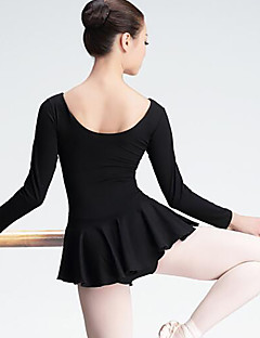 cheap Ballet Dance Wear-Ballet Women's Performance Spandex Long Sleeves Natural Dress