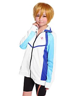 """billige -Inspirert av Gratis! Haruka Nanase Anime  """"Cosplay-kostymer"""" Cosplay gensere Trykt mønster Langermet Frakk Til Mann"""