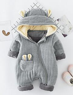 billige Babytøj-Baby En del Helfarve, Polyester Vinter Efterår Brun Lyserød Grå