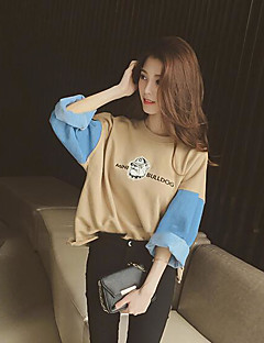 tanie Damskie bluzy z kapturem-Damskie Podstawowy Bluzy - Wielokolorowa