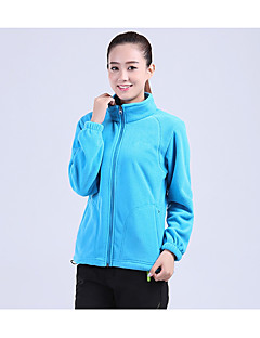 cheap Softshell, Fleece & Hiking Jackets-Men's Women's Hiking Fleece Jacket Outdoor Winter Keep Warm Fleece Winter Fleece Jacket Full Length Visible Zipper Running/Jogging