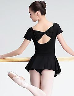 tanie Stroje baletowe-Balet Damskie Wydajność Spandeks Z krótkim rękawem Naturalny Ubierać
