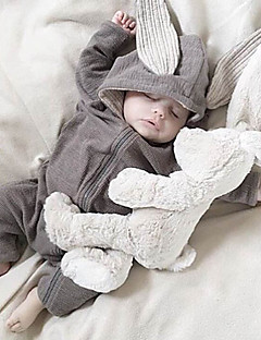Baby Einzelteil Einheitliche Farbe Baumwolle Frühling/Herbst Jahreszeiten Lange Ärmel