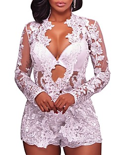 Women's Party Club Vintage Sexy Street chic Spring Fall Set Pant Suits,Retro Patchwork Sexy Lady Deep V Lace Micro-elastic