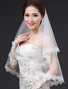 Menyasszonyi fátyol Egykapcsos Könyékig érő fátylak Modern/kortárs Modern stílus minimalista stílusú Hercegnő Menyasszonyi Esküvő Tüll