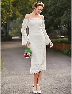 Tea length wedding dresses search lightinthebox sheath column strapless tea length lace wedding dress with lace by lan ting bride junglespirit Gallery