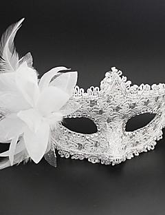 Prinsesse Eventyr Maske Unisex Halloween Karneval Nytt År Festival / høytid Halloween-kostymer Rosa Svart Hvit Sølv Ensfarget Blonder