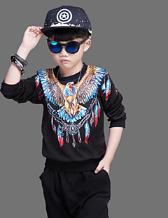 Boys' Others Clothing Set,Cotton Spandex Winter Fall Black
