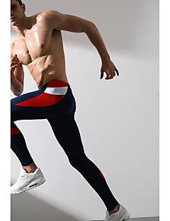 בגדי ריקוד גברים טייץ לריצה תחתיות ל כושר וספורט רזה שחור כחול כהה אפור M L XL XXL