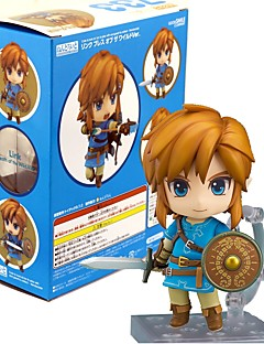 billige Anime cosplay-Anime Action Figurer Inspirert av The Legend of Zelda Link PVC 10 CM Modell Leker Dukke