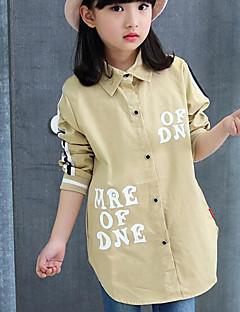 Mädchen Hemd Andere einfarbig Baumwolle Frühling Herbst Lange Ärmel