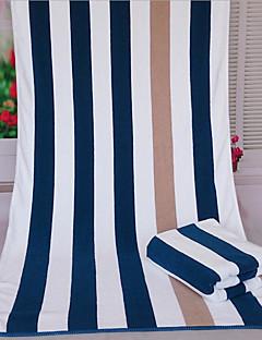 Frischer Stil Badehandtuch,Gestreift Gehobene Qualität Gemischte Polyester/Baumwolle Handtuch