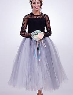 ファッション結婚式の茶色の長さのナイロンchinlonウェディングアクセサリースカート