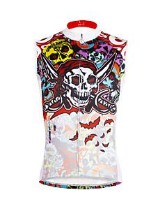 cheap Cycling Clothing-ILPALADINO Men's Sleeveless Cycling Jersey - Camouflage Skull Bike Vest/Gilet Jersey, Quick Dry