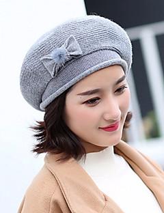 Women's Knitwear Bucket Hat,Vintage Cute Work Solid Winter